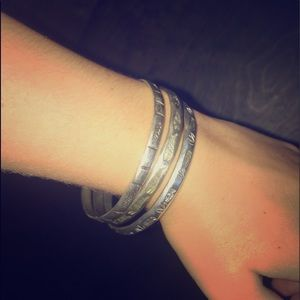 Three bracelets and one necklace!!!